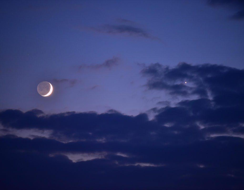 Venus Und Mondsichel