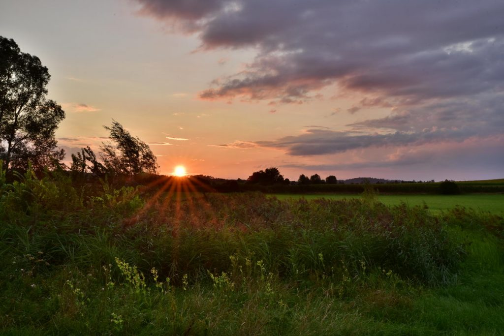 Sonnentuntergang An Der Sulzach