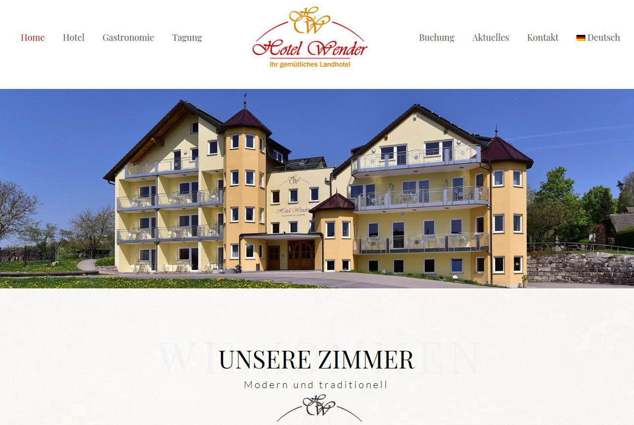 Neue Website Hotel Wender