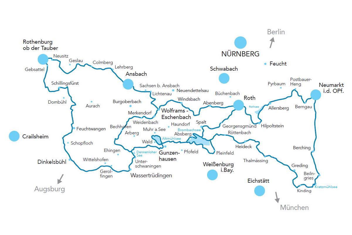 Wasserradweg Karte